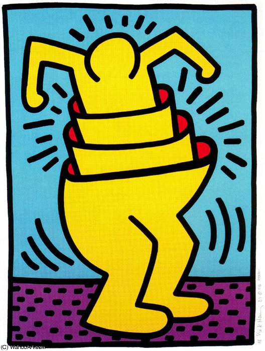 | Untitled (176) by Keith Haring | BuyPopArt.com
