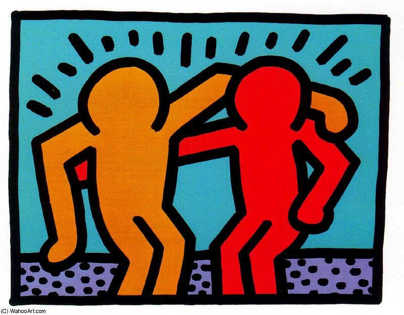 famous painting Untitled (283) of Keith Haring