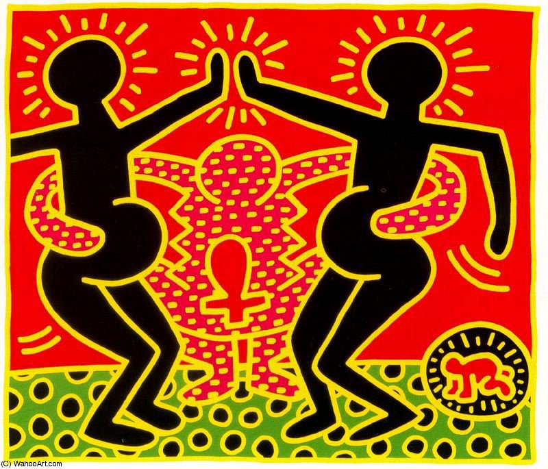 famous painting Untitled (748) of Keith Haring