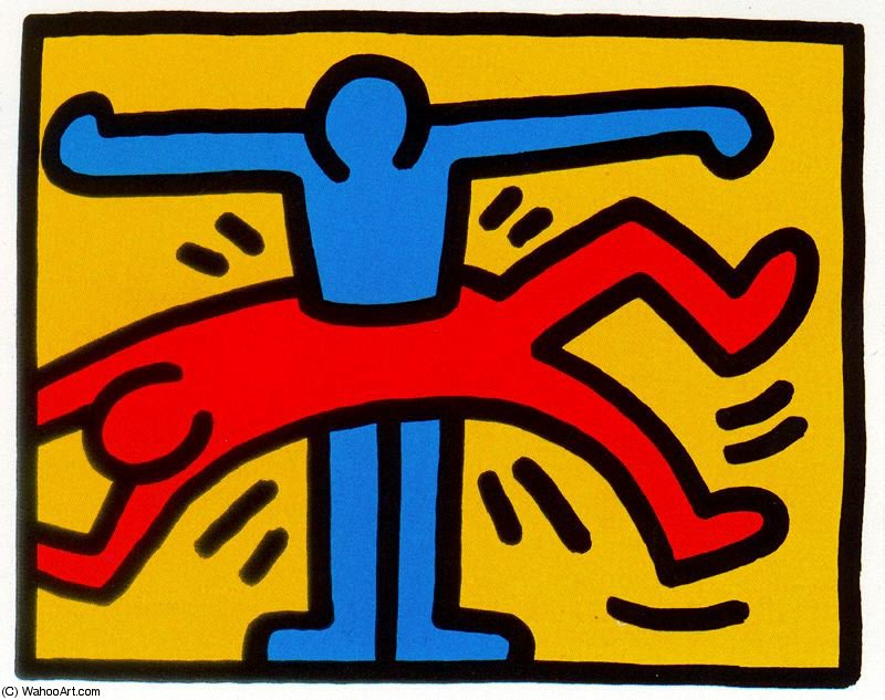 famous painting Untitled (496) of Keith Haring