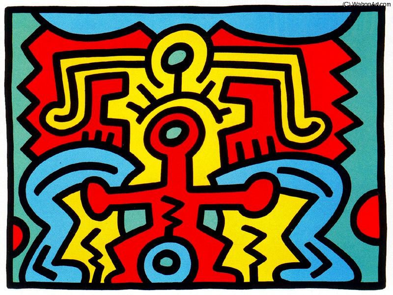 famous painting Untitled (750) of Keith Haring