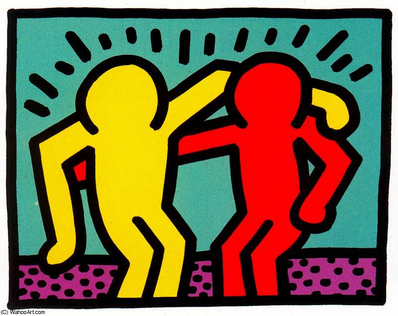 famous painting Untitled (992) of Keith Haring