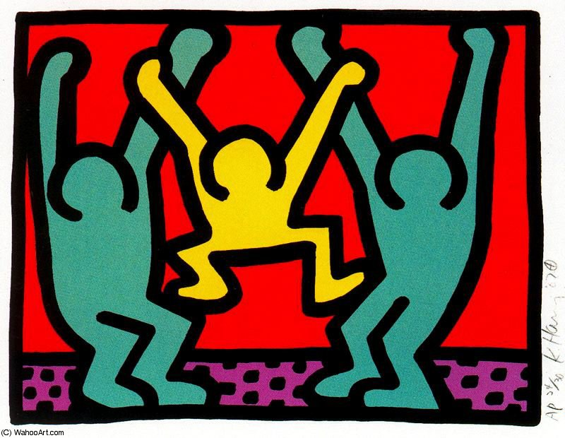famous painting Untitled (785) of Keith Haring