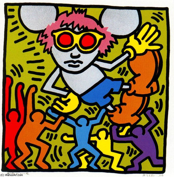 famous painting Untitled (731) of Keith Haring