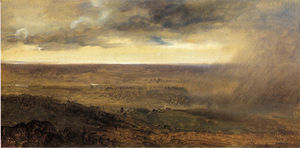 François Marius Granet - Storm in the Valley of the Tiber