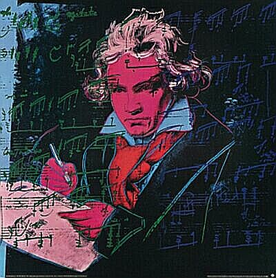 famous painting Beethoven b - (2303649) of Andy Warhol