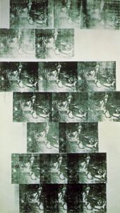 Andy Warhol - White car crash 19 times, Private