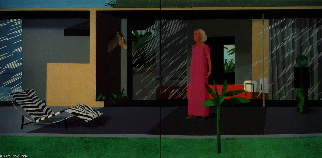 famous painting Beverly hills housew of David Hockney