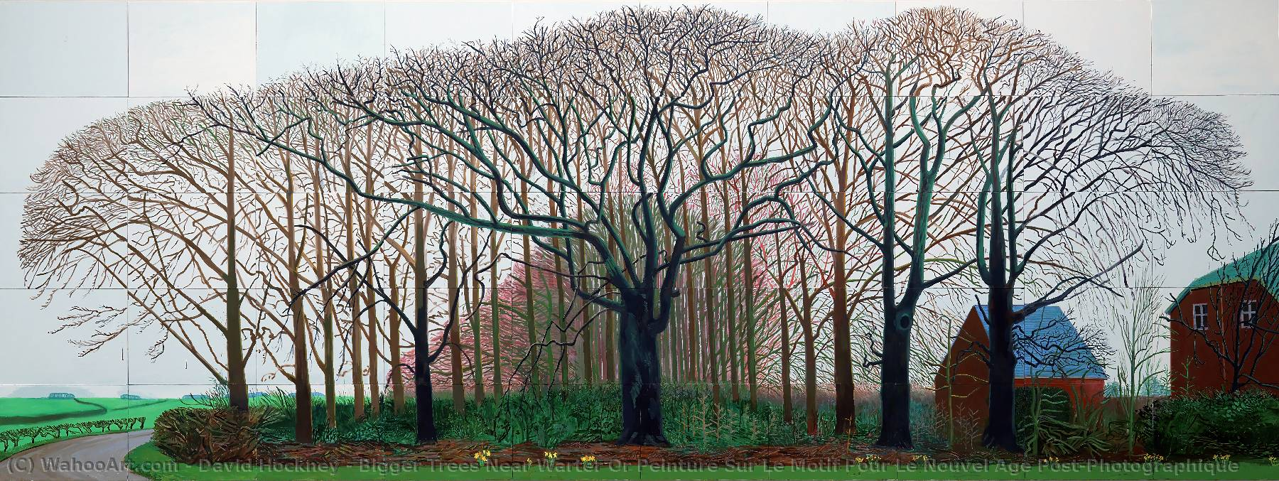 | Bigger Trees Near Warter Or Peinture Sur Le Motif Pour Le Nouvel Age Post-Photographique by David Hockney | BuyPopArt.com