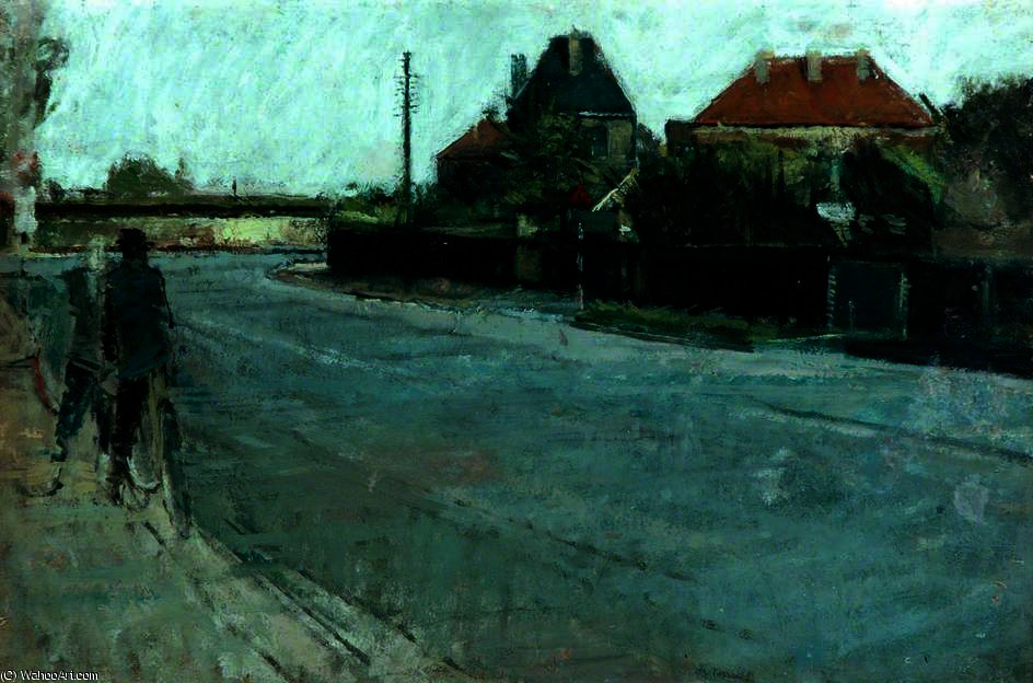 famous painting Moorside road, fagley of David Hockney