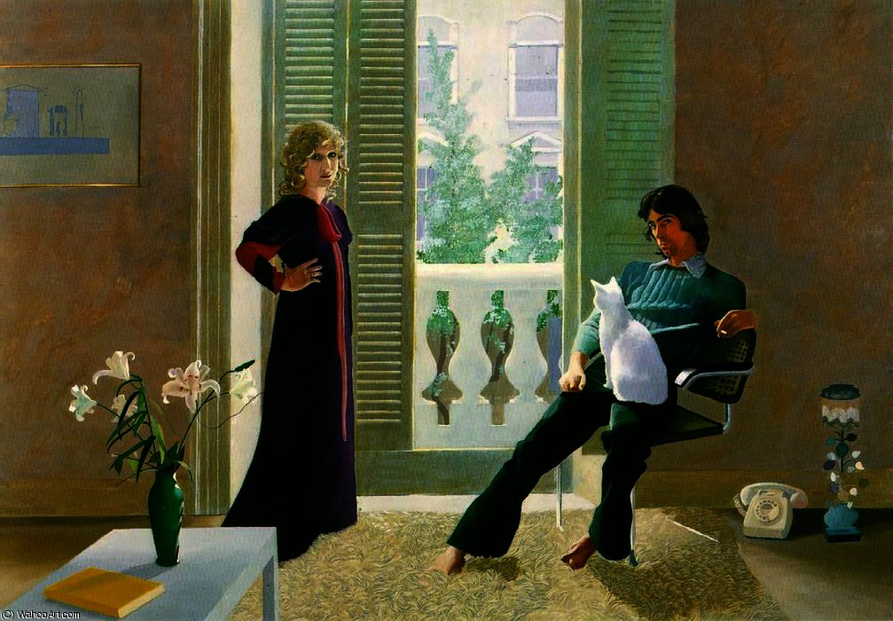 | Mr and Mrs Clark and Percy by David Hockney | BuyPopArt.com