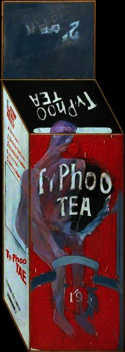 famous painting Tea Painting in an Illusionistic Style of David Hockney