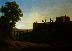 Richard Wilson - Italian Landscape with Figures and Ruins