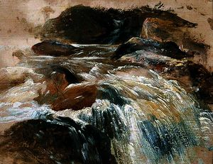 William James Muller - A waterfall