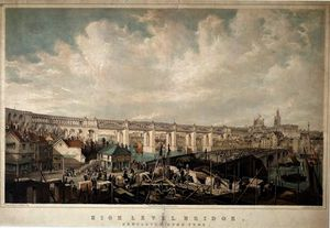 John Wilson Carmichael - High Level Bridge, Newcastle upon Tyne