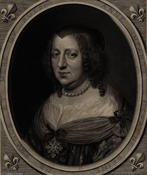 famous painting Portrait of Anne of Austria of Robert Nanteuil