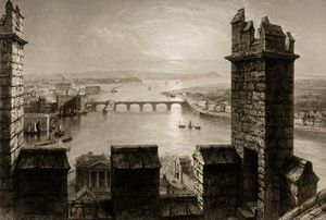 William Henry Bartlett - The River Shannon and Limerick from the Cathedral