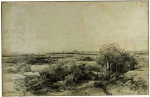 Andreas Schelfhout - Panoramic view of haarlem with the ruins of castle brederode