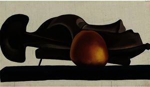 Georgia Totto O'keeffe - Mask with golden apple