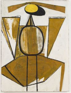 Robert Motherwell - Personage, with Yellow Ochre and White