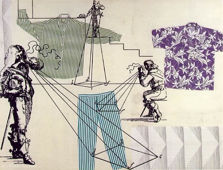 famous painting Measuring clothes of Sigmar Polke