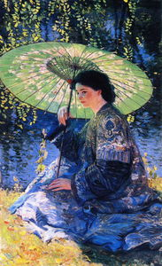 Guy Rose - The green parasol, (1911)