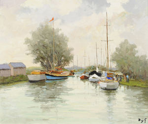 Marcel Dyf - Yacht Club at Trouville