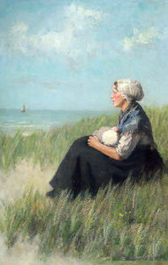 Adolph Artz (David Adolf Constant Artz) - Mother and Child in the Dunes