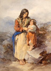 Alfred Downing Fripp - Galway Woman and Child