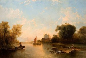 Alfred Montague - Eton College from the River