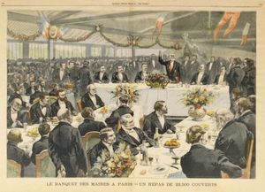 Fortune Louis Meaulle - Banquet mayors in Paris
