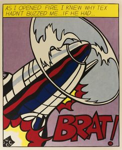 Roy Lichtenstein - As I opened fire, I knew why tex hadn't buzzed me... if he had...