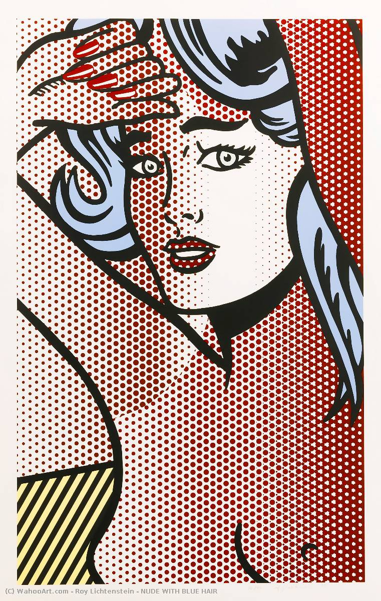famous painting NUDE WITH BLUE HAIR of Roy Lichtenstein