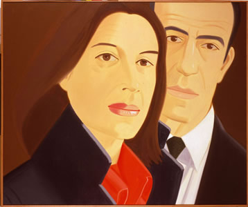 famous painting Ada and Alex of Alex Katz