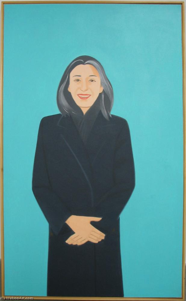 famous painting Ada in Aqua of Alex Katz