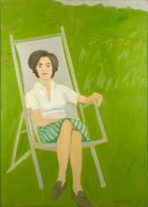 Alex Katz - Ada seated