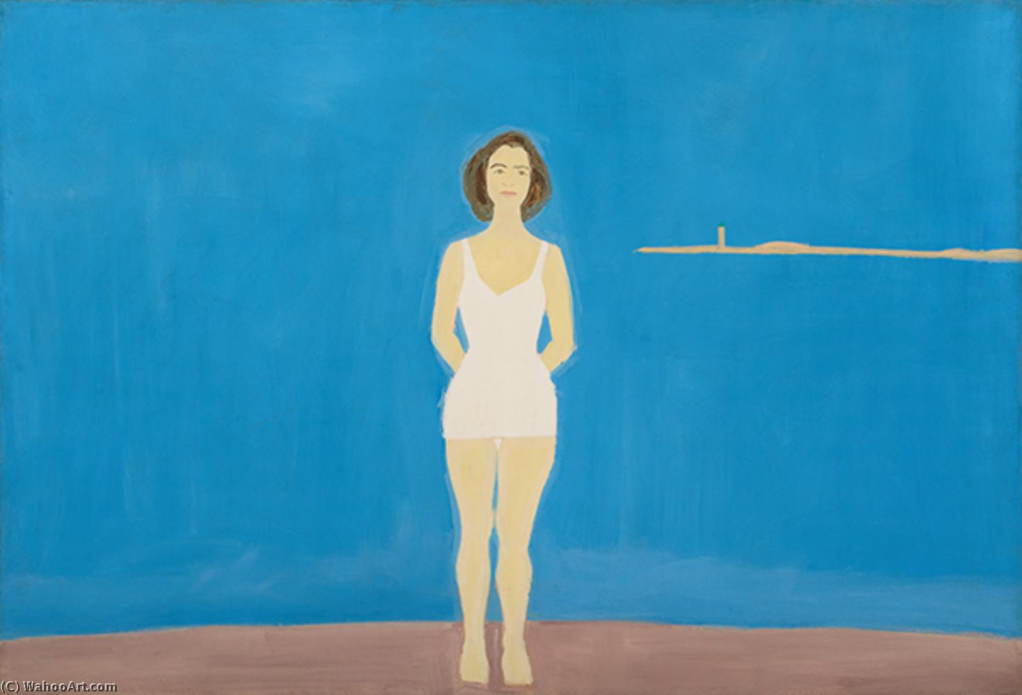 famous painting Bather (2) of Alex Katz