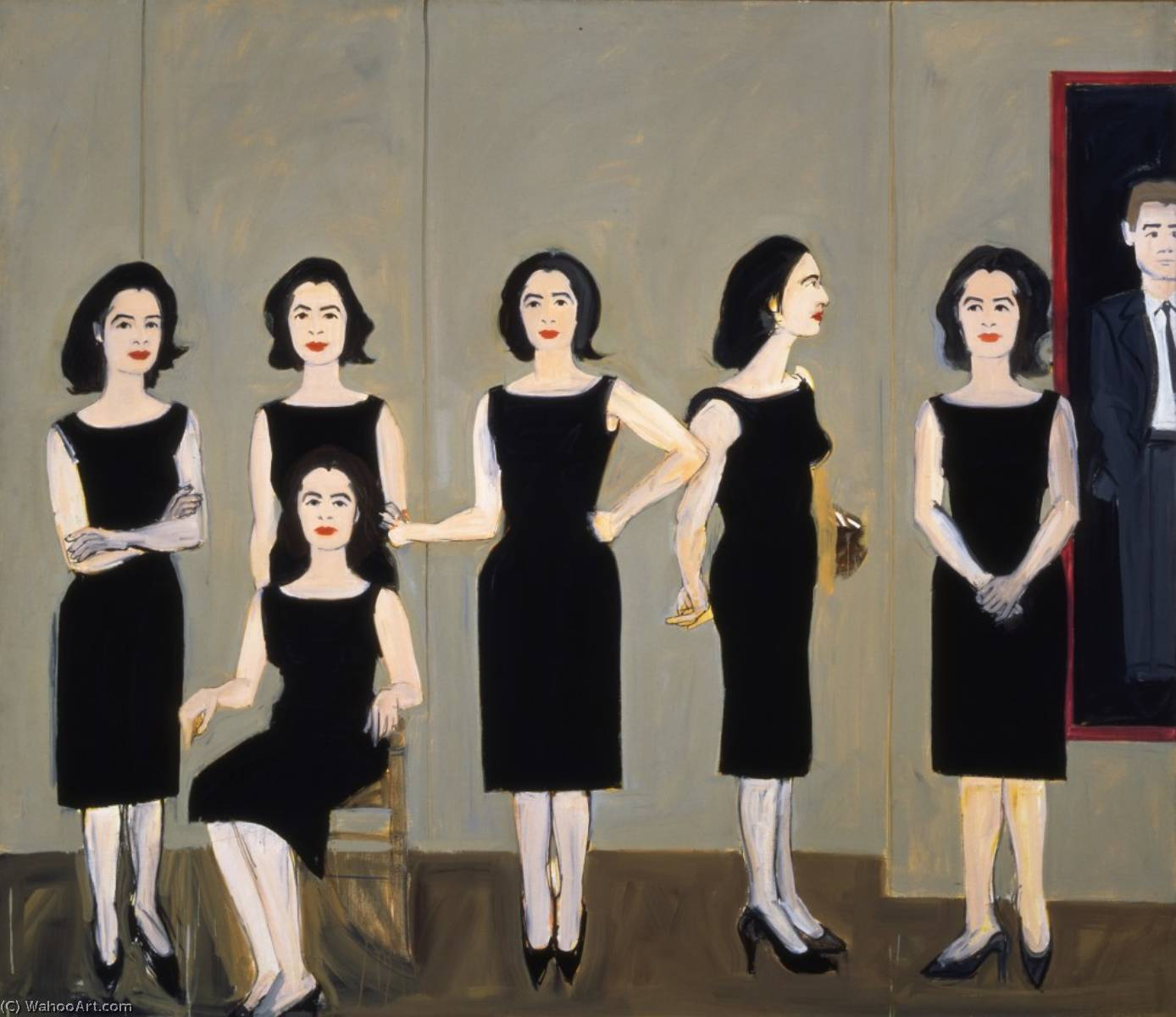 famous painting Black dress of Alex Katz