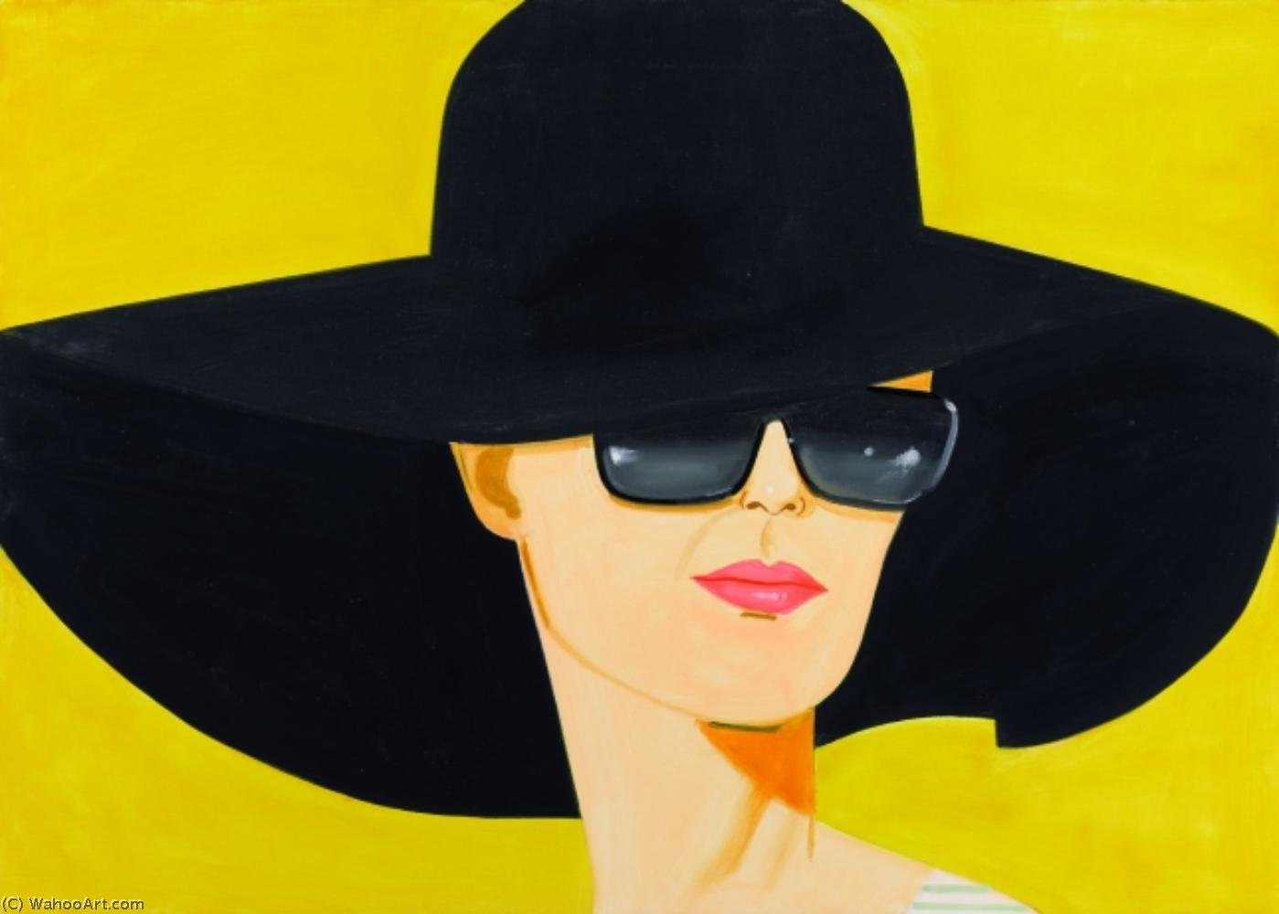 famous painting Black hat (2) of Alex Katz