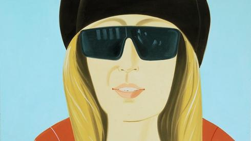 famous painting Dark brown hat of Alex Katz