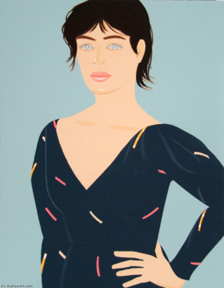famous painting Gray dress of Alex Katz