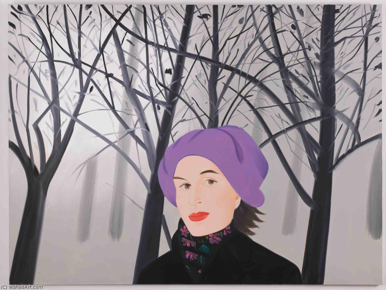 famous painting January of Alex Katz