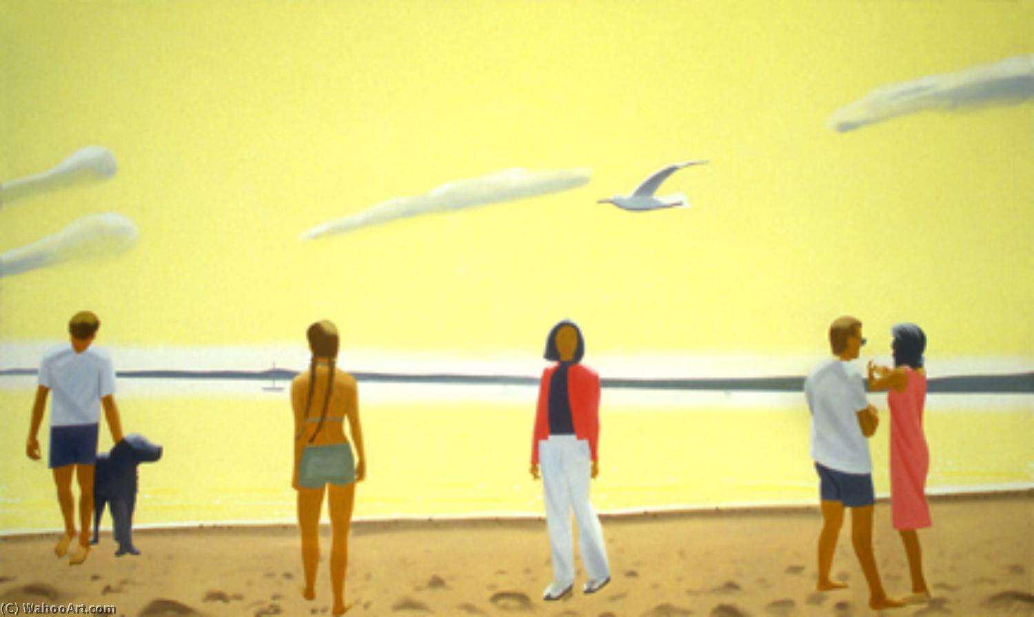 famous painting Penobscot morning of Alex Katz