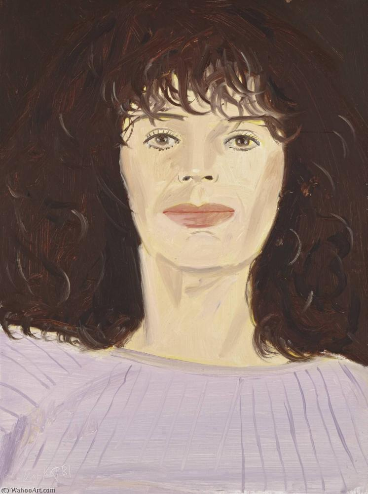 famous painting Pink sweater of Alex Katz