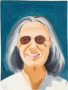 famous painting Portrait of a Woman With Sunglasses of Alex Katz