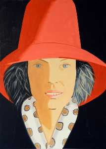 Alex Katz - Red hat