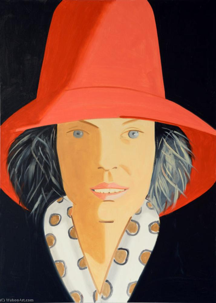 famous painting Red hat of Alex Katz