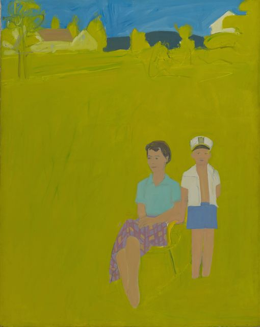 famous painting Slab city road of Alex Katz