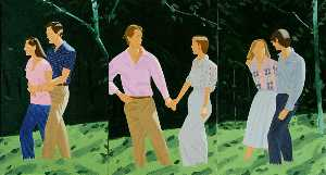 Alex Katz - Summer triptych