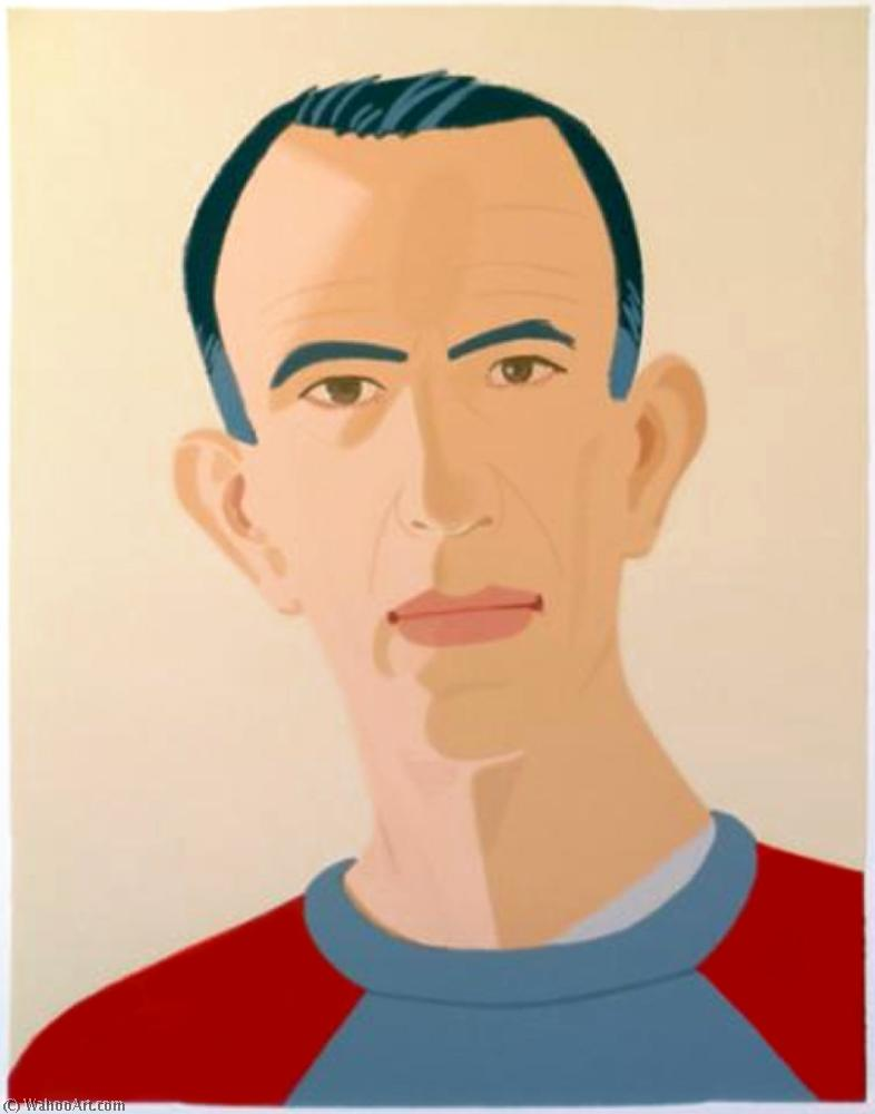 famous painting Sweat Shirt II (Selfportrait) of Alex Katz